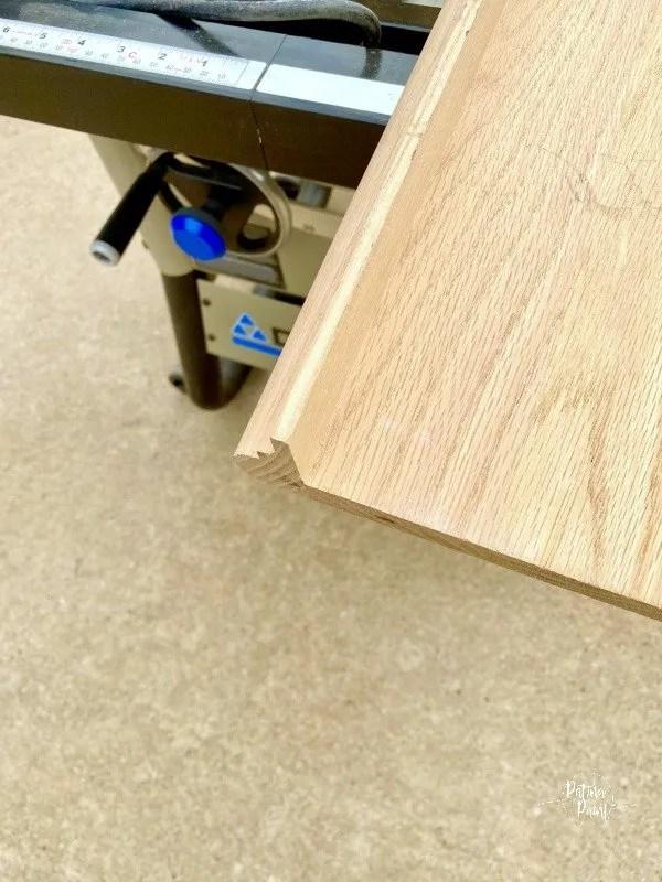 wooden stair riser
