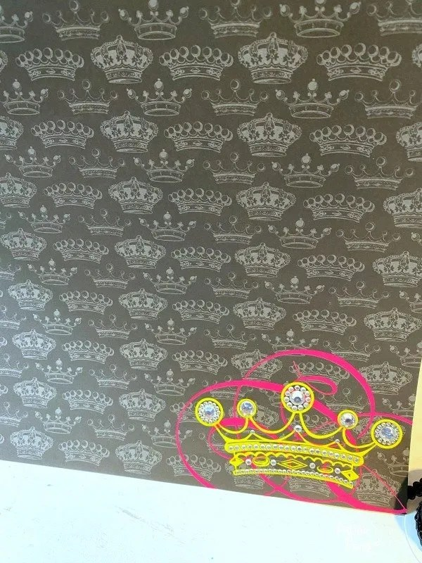 crown scrapbook paper