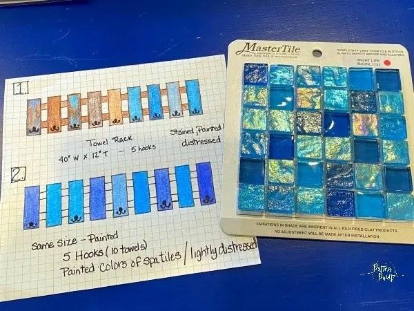 tile sample, drawing