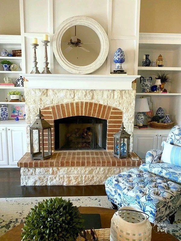 painted fireplace mantle