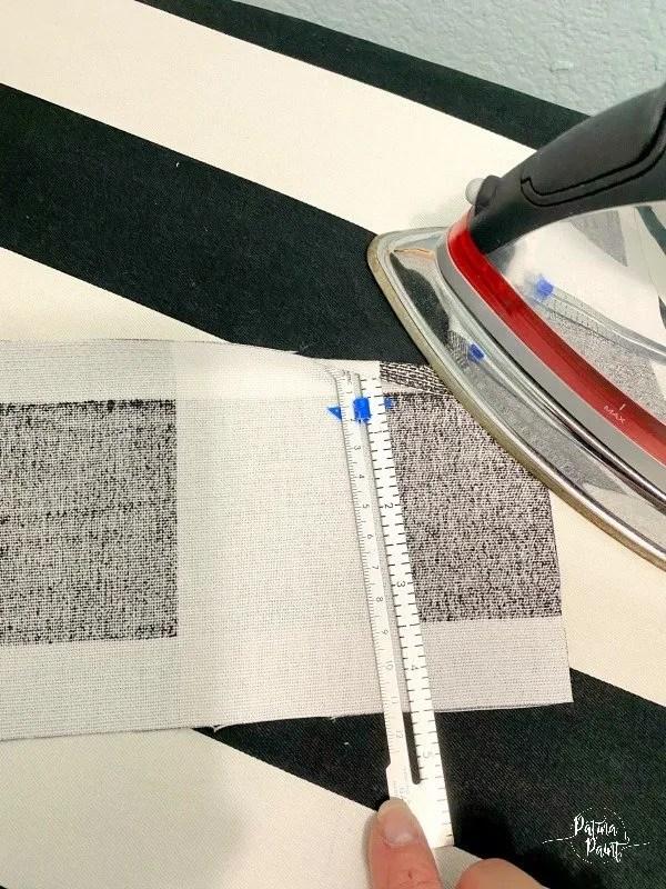fabric, ruler, iron