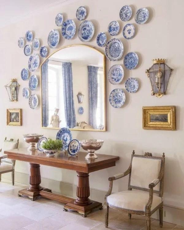 plates, mirror, entry
