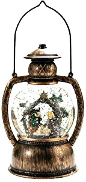 old time snow globe lantern