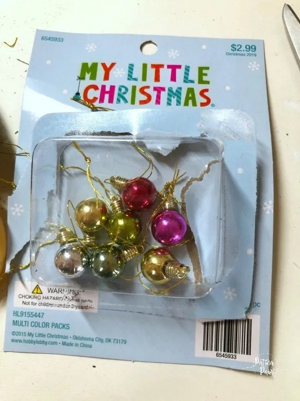 mini christmas ornaments