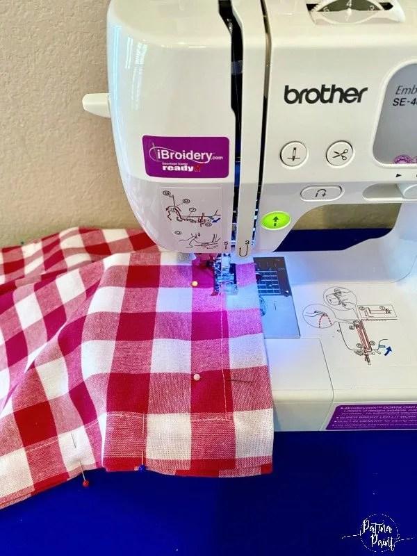 sewing machine, pillow
