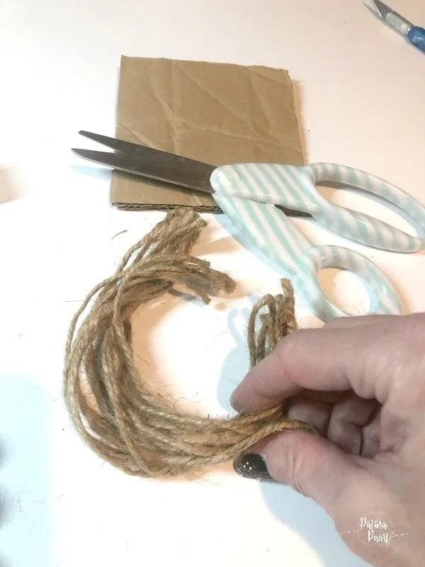 cut twine for tassel