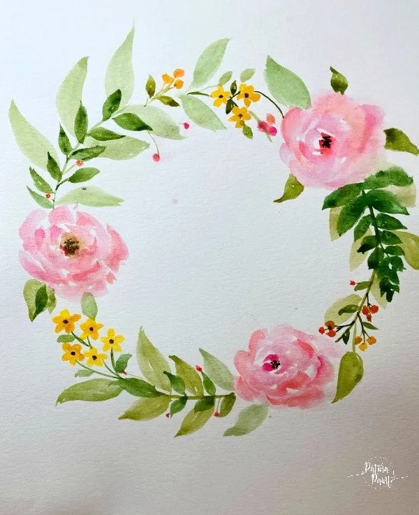 water color wreath