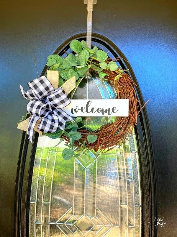 Welcome grapevine wreath