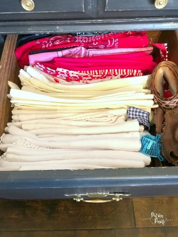 drawer 3 of cloth napkins