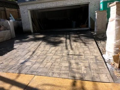 decorative concrete driveways st