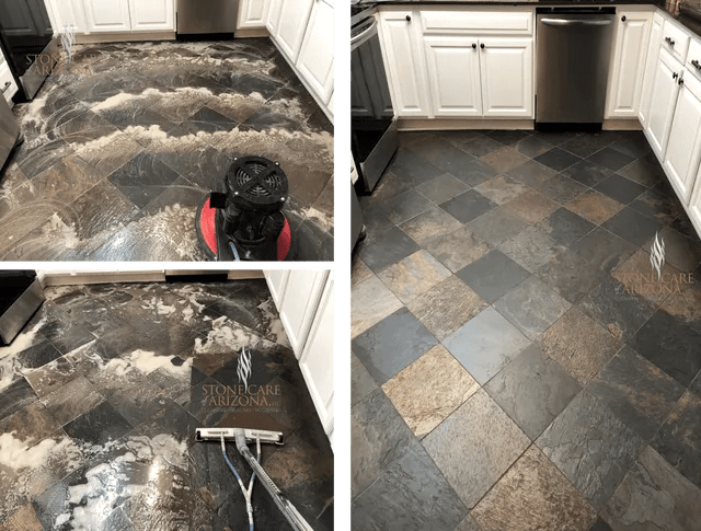 slate tile grout counter top cleaning
