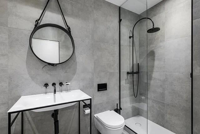 shower tile installation bathroom
