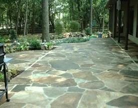 custom designed patios paving stone