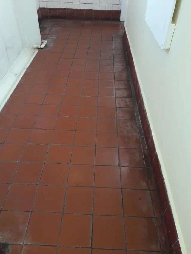 a little tile cleaning