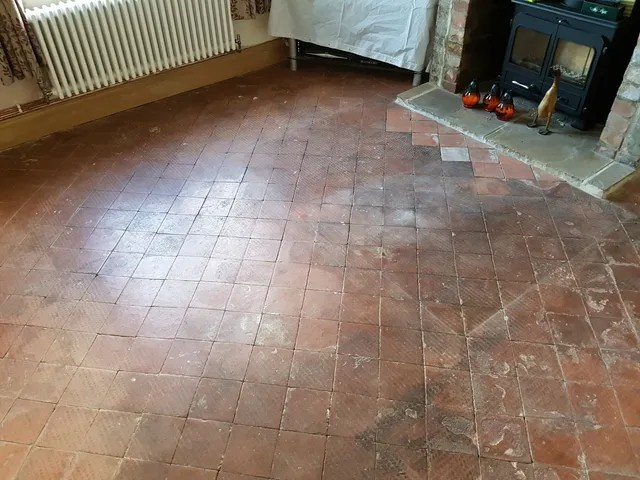 quarry tiled floor deep cleaning and