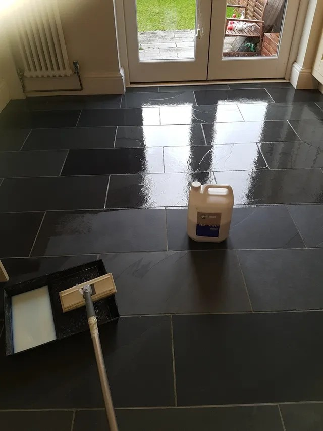 slate floor cleaning and sealing in