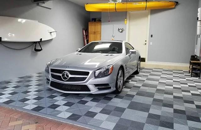 custom garage floor tiles multiple