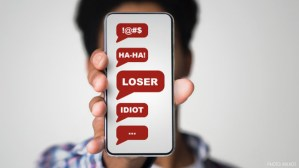 Cyberbullying Insults on Phone
