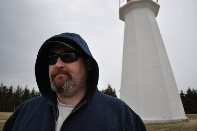 Jeff at the Cape George Lighthouse
