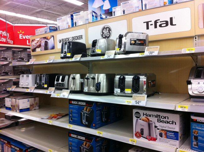 Walmart's toaster isle