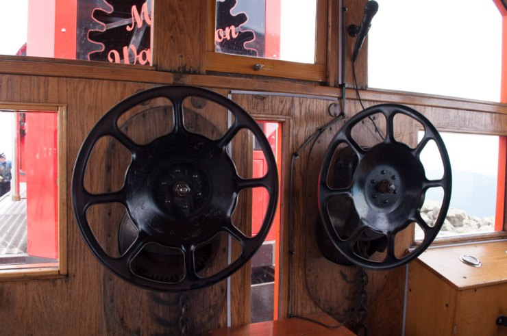 The brakeman uses these to stop certain death on the way down.