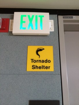 Toronto shelter signs were all over the airport
