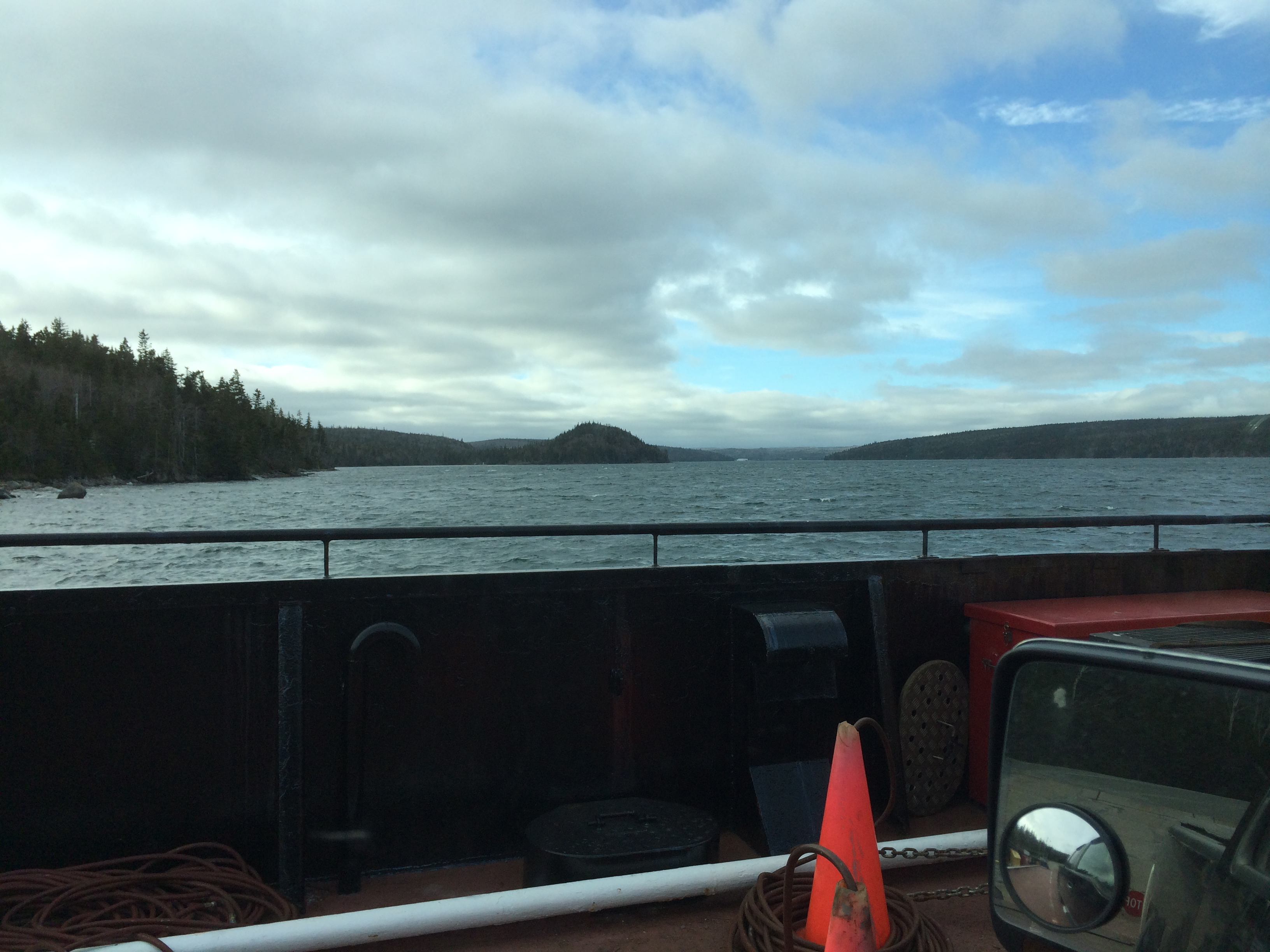 View from the Country Harbour ferry