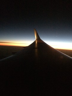Sunset on the way to Philadelphia.