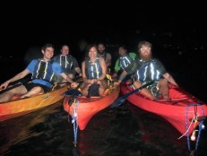 Kayaking in the dark!