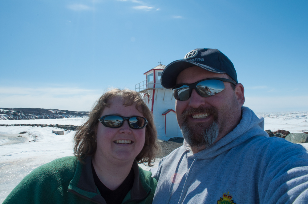 Selfie shot of Jeff and I in front of the lighthouse. Adding photo descriptions for you Aunt Dona!