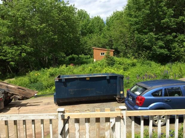 We got a dumpster for a few days!