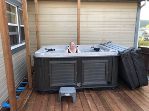 Me in the hot tub