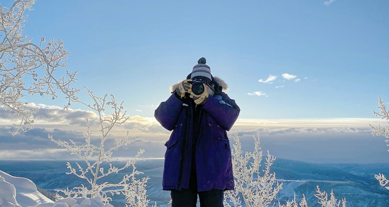 Photos of my Dad taking photos: Yukon winter edition