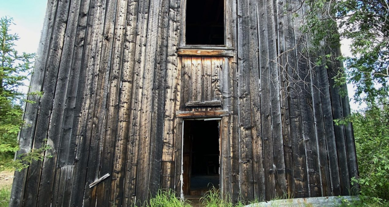 Old shaft, mosquitos, 1912, and doors to ??