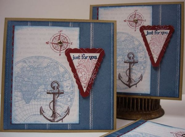 Stampin Up Card Idea A Great Pair The Open Sea And