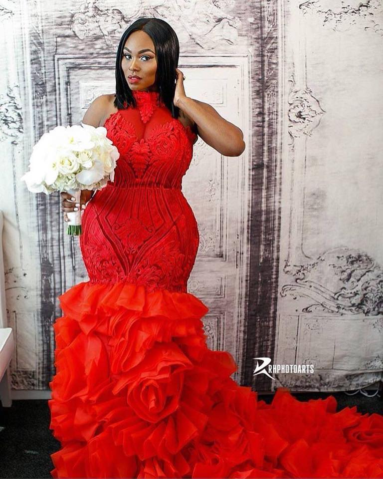 Red Wedding Dresses.This Woman Rocked A Red Wedding Gown And It Is Everything Video