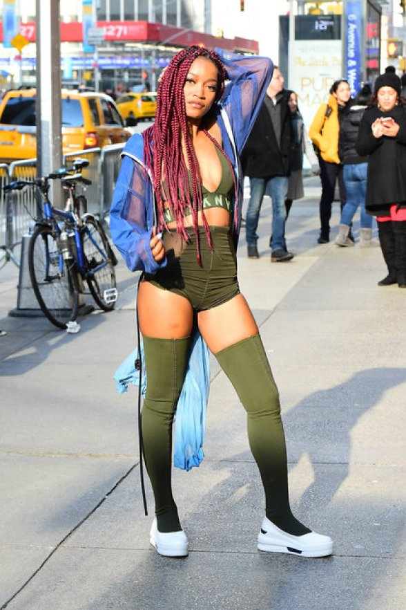NEW YORK, NY - DECEMBER 14: Actress/Singer Keke Palmer is seen in Midtown on December 14, 2016 in New York City. (Photo by Raymond Hall/GC Images)