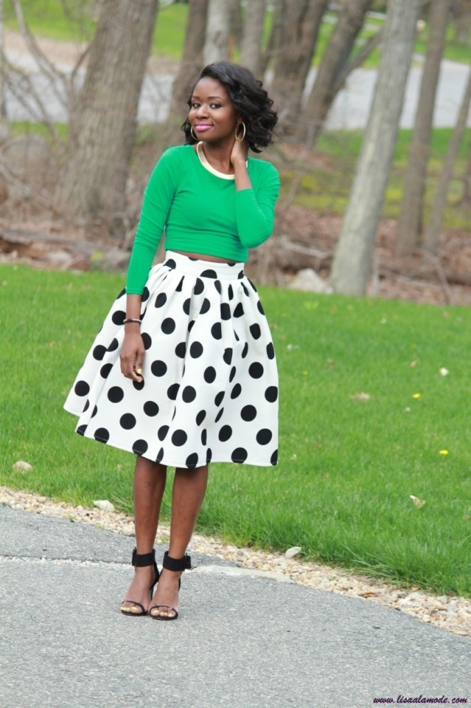 Polka-Dot-Skirt-Choies