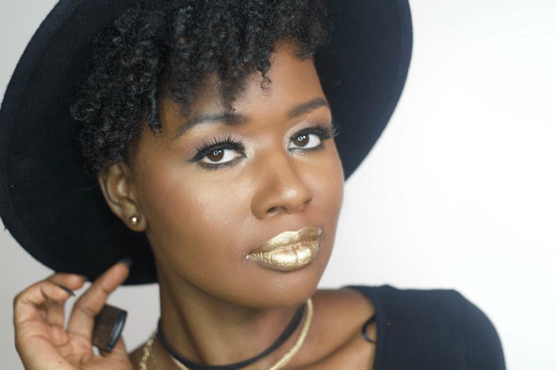 pat-mcgrath-gold-lipstick-review-gold-dark-skin-black-woman