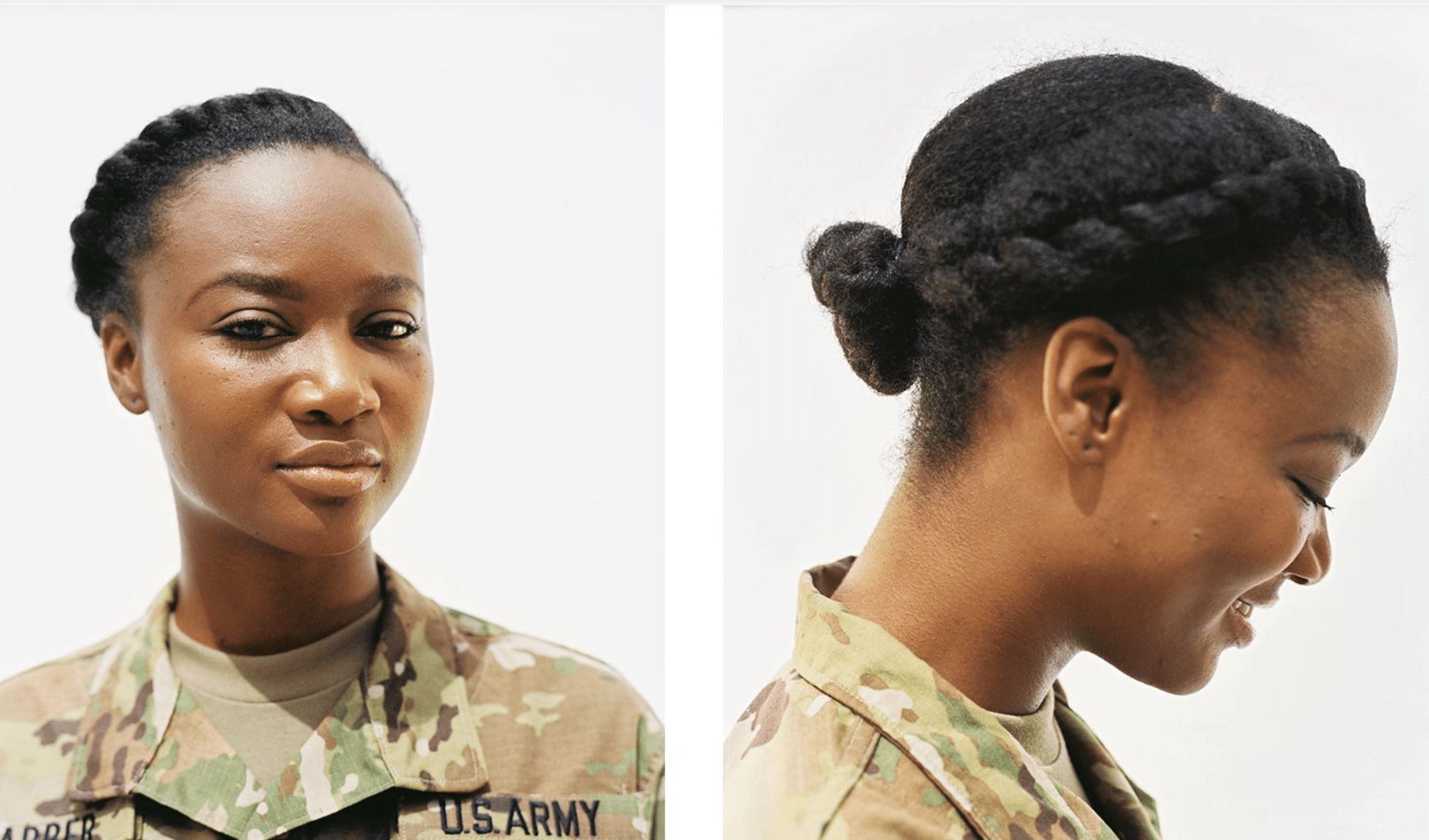 Vogue Honors Natural Hair In The Military Lisa a la mode