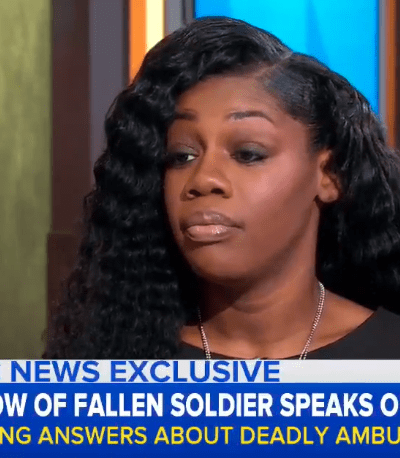 Pregnant Widow Of Fallen Soldier Confirms #45 Said, 'He Knew What He Signed Up For' [VIDEO]