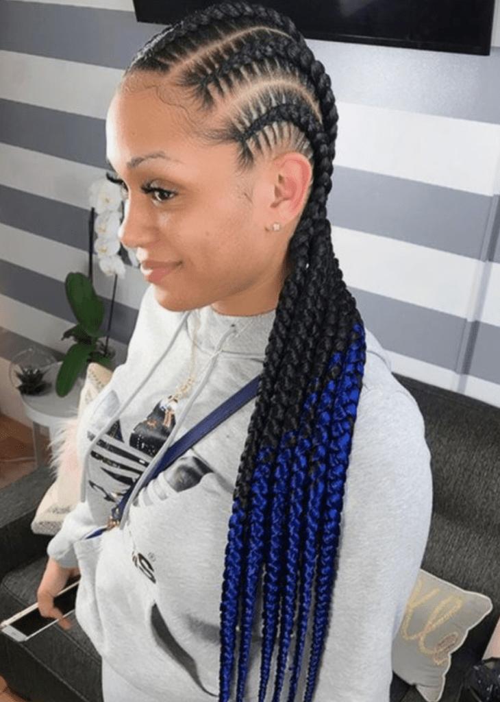 stitch feed-in braids