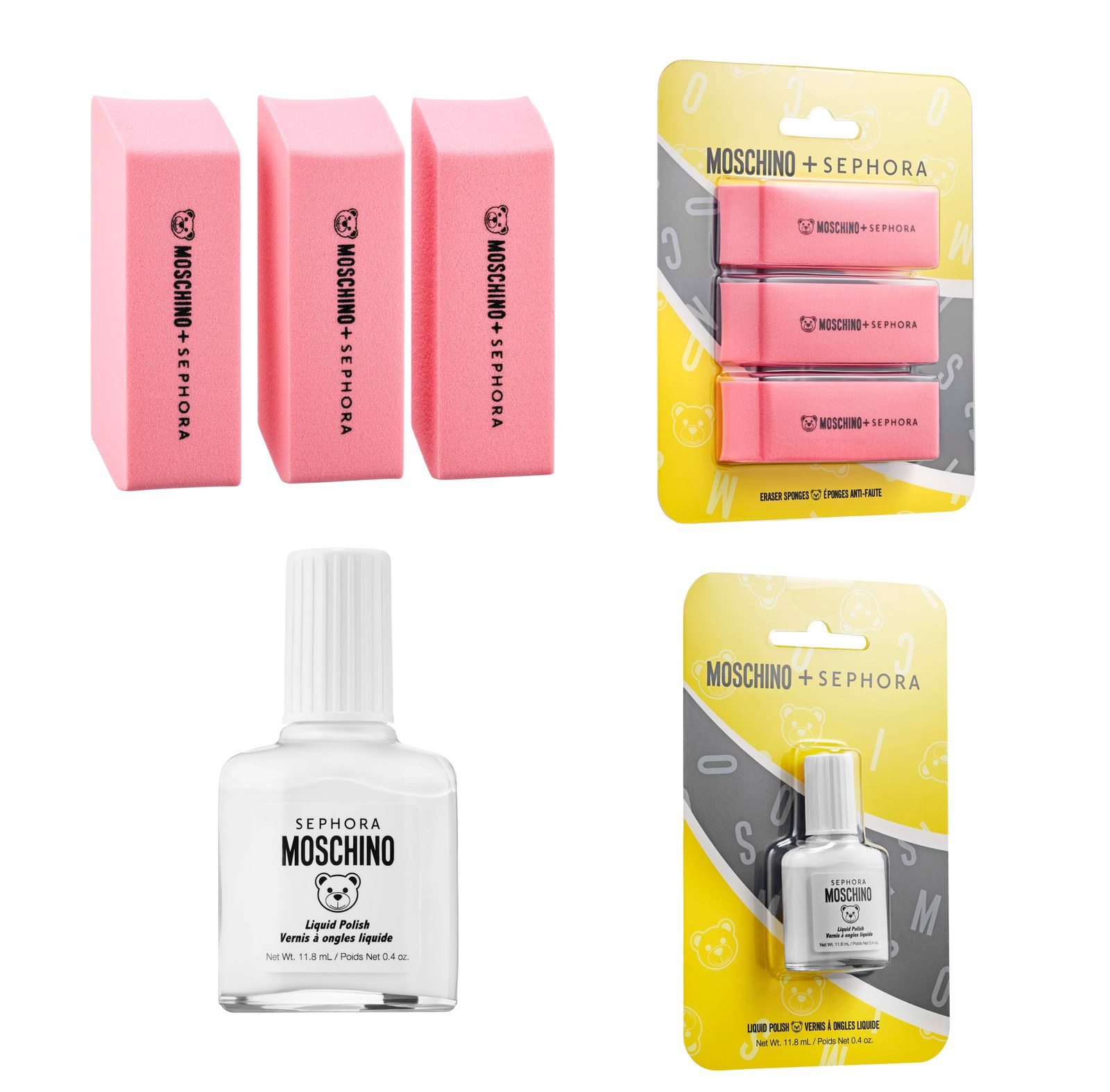 Sephora-Collection-x-Moschino-Eraser-Sponges-and-white-out-nail-polish-1
