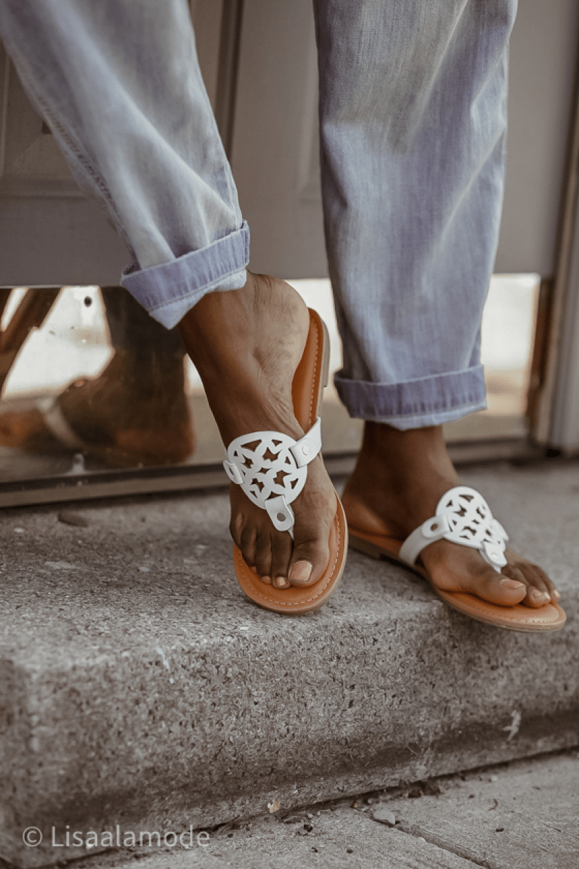 how to style white sandals
