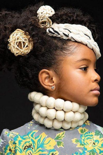#BlackGirlMagic: New Photo Exhibit Celebrates Black Girls+Their Natural Hair In High Fashion
