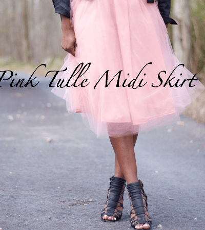 Pink Tulle Midi Skirt Outfit + Link Up