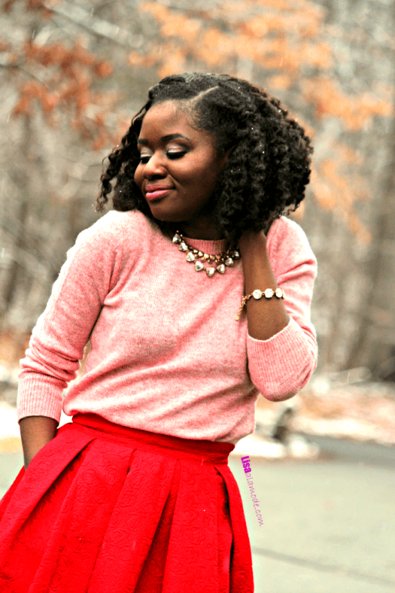 How to Style a Red Skirt: Fashion a la mode Link Up