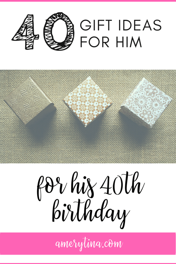 Looking for a creative gift idea for your husband or partner? Here are 40 gift ideas (starting at cents) for his 40th birthday! #gift #giftsforhim #birthday #giftidea #husband