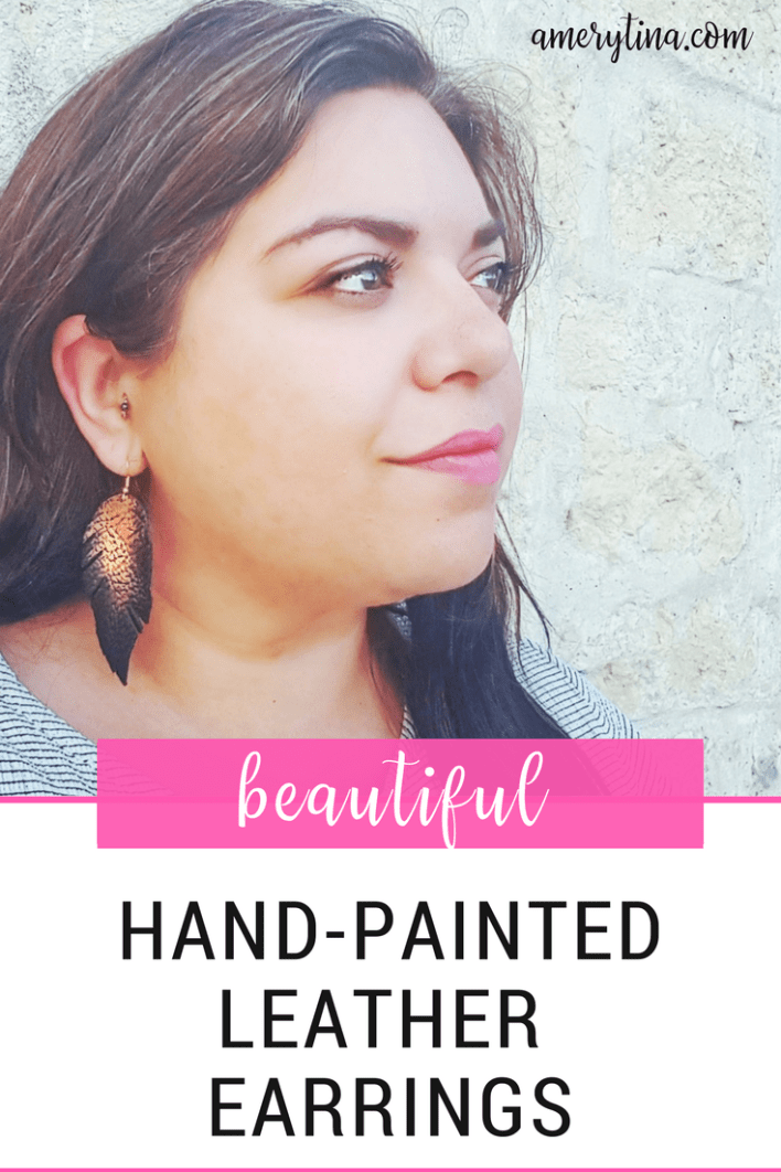 I am so in love with these Hand-painted leather earrings by The Lovely Hollow. Read more to see what makes them so amazing! | amerytina