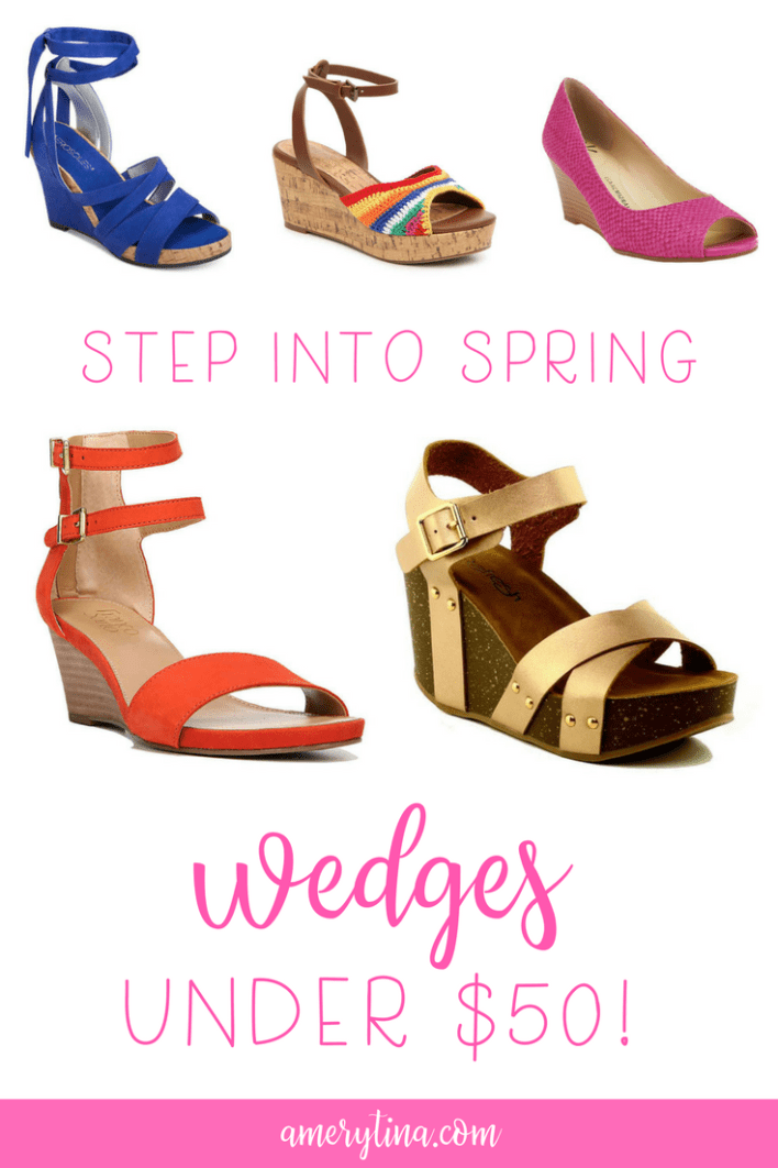 Step into Spring with these must have wedges, all under $50! | amerytina #shoes #styletip #shop